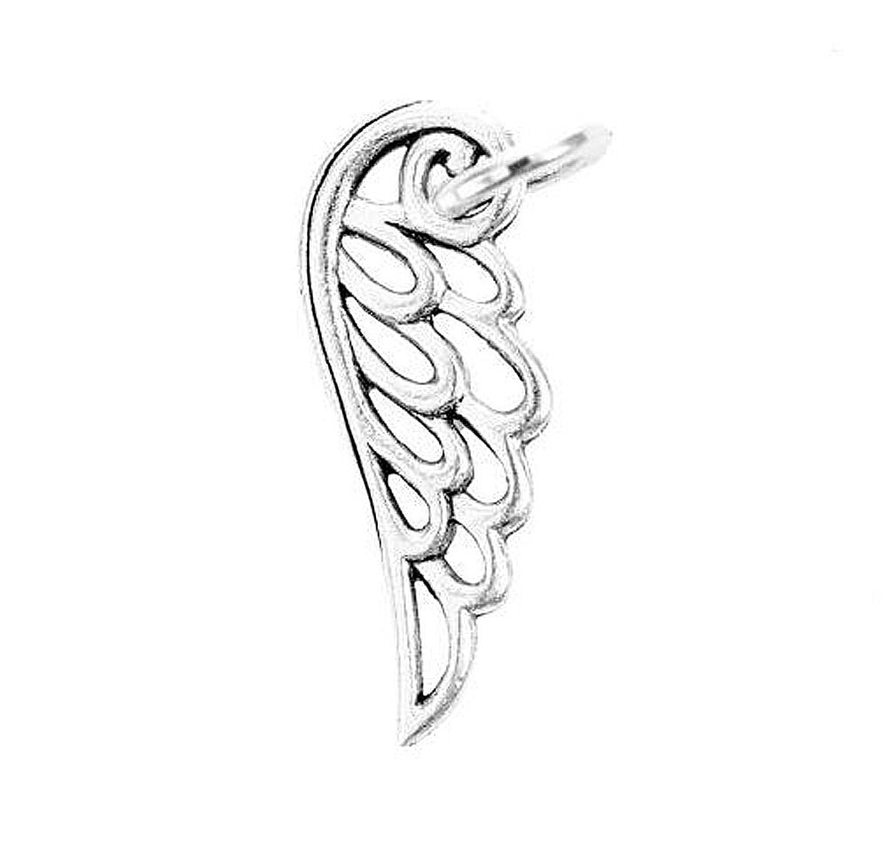 Wing Charm Silver Character