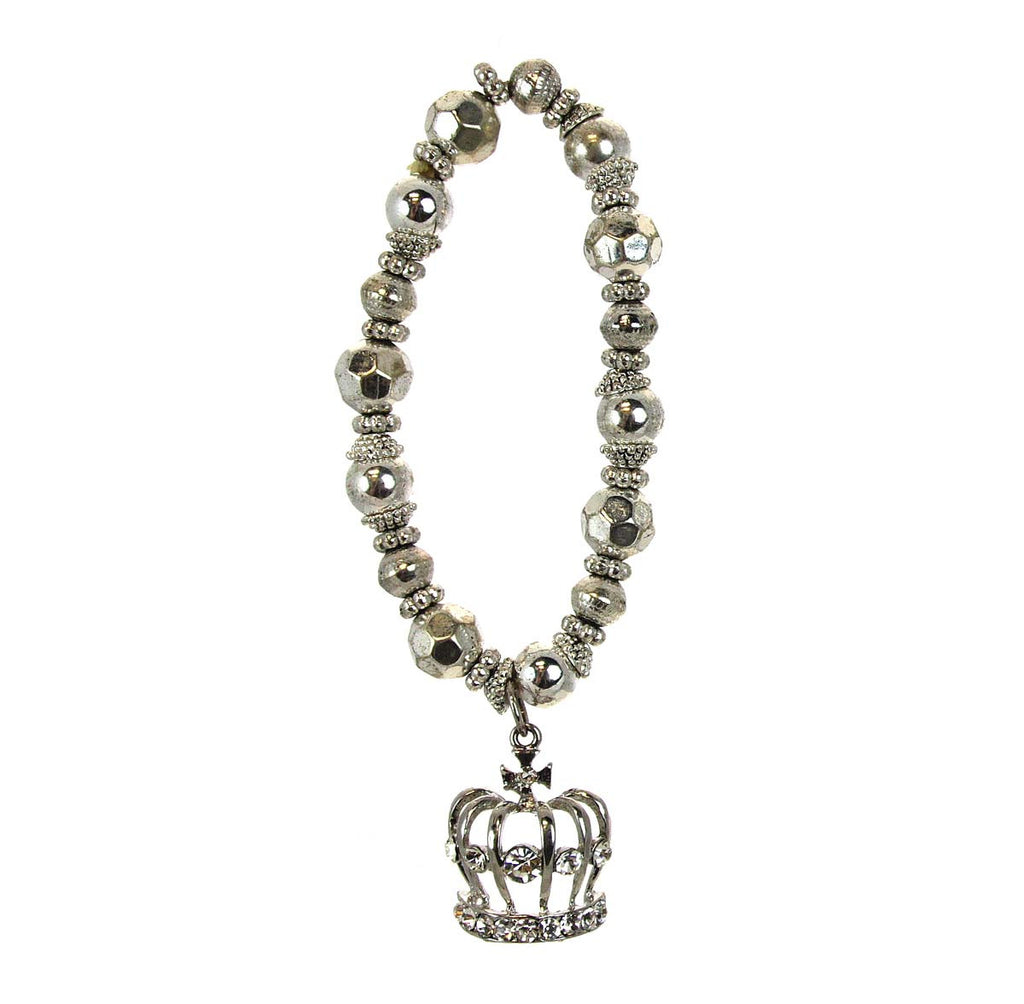 Crown Bracelet with Charm
