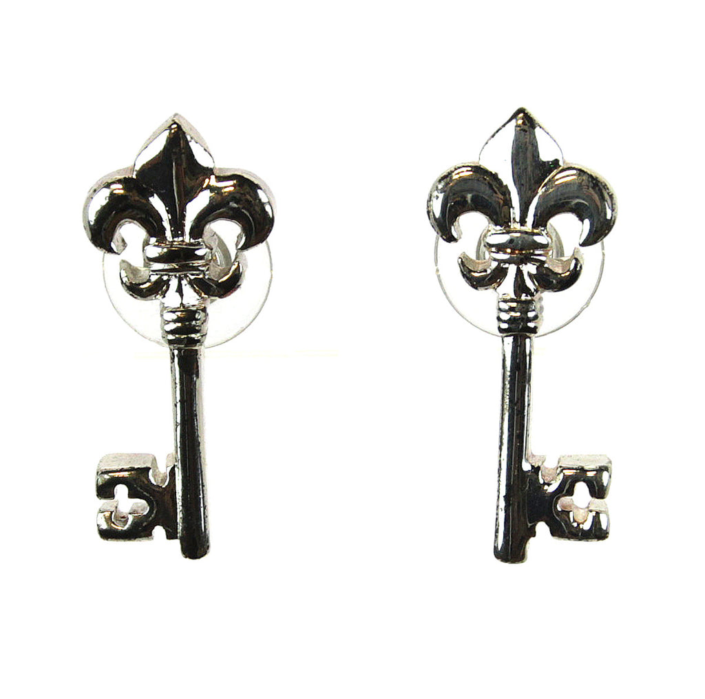 Fleur De Lis Key Earrings