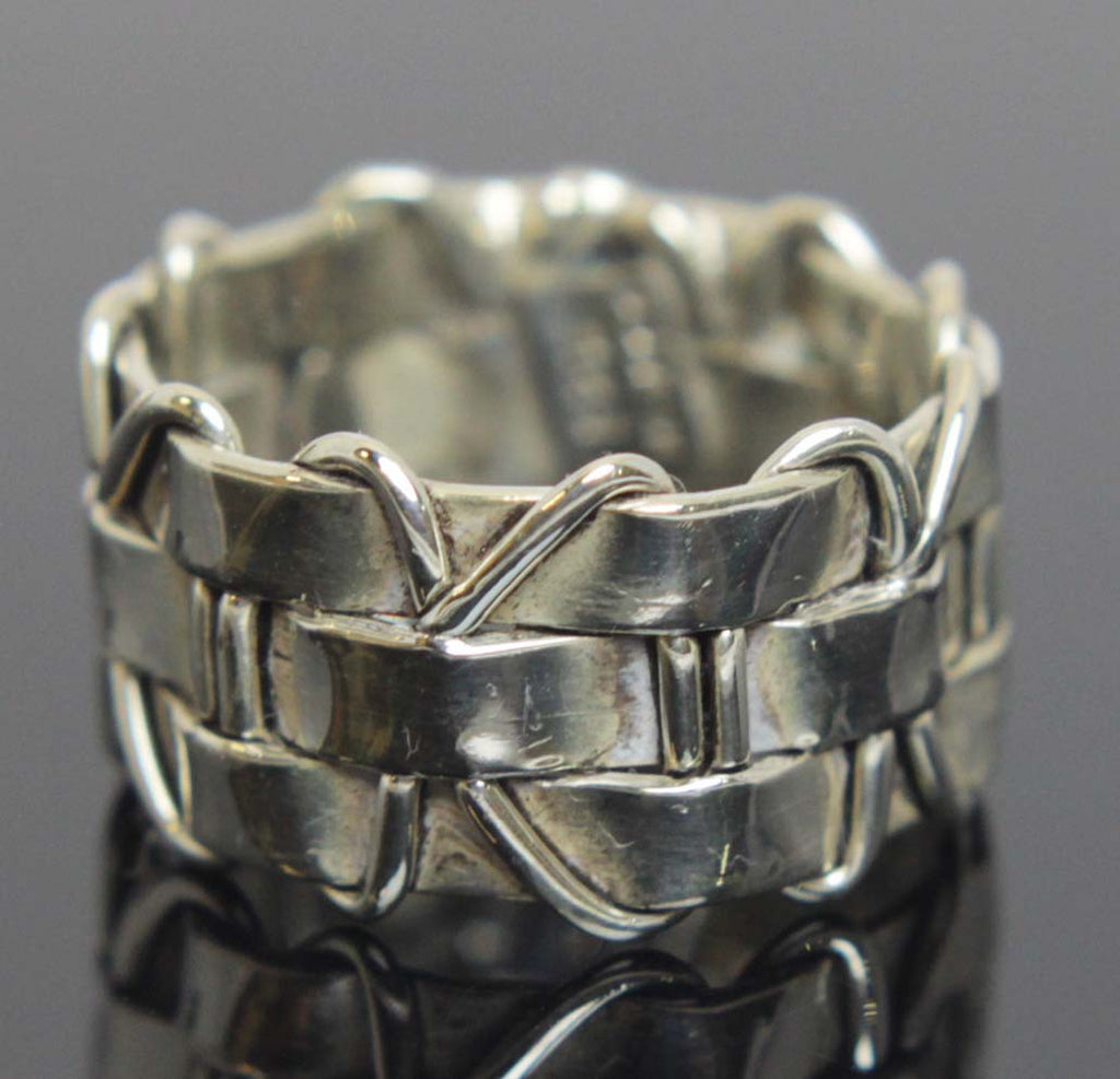 Sterling Silver Ring Weave Size 7.5