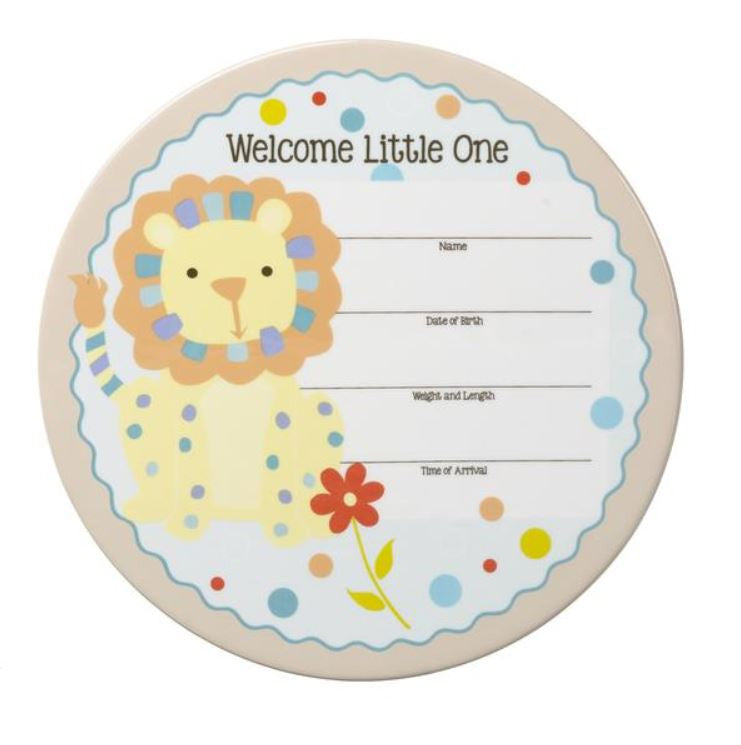 Birth Announcement Ceramic Wall Art Boy