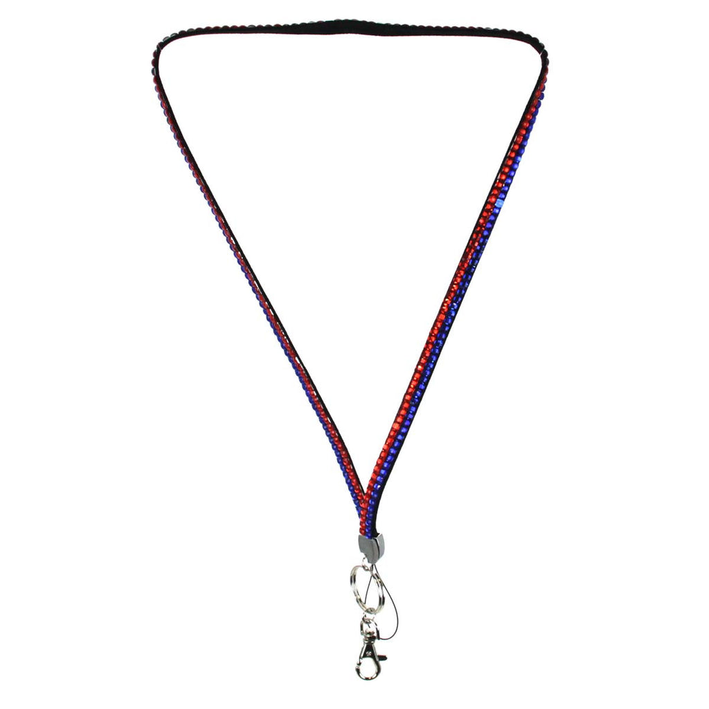 Lanyard Bling Blue Orange