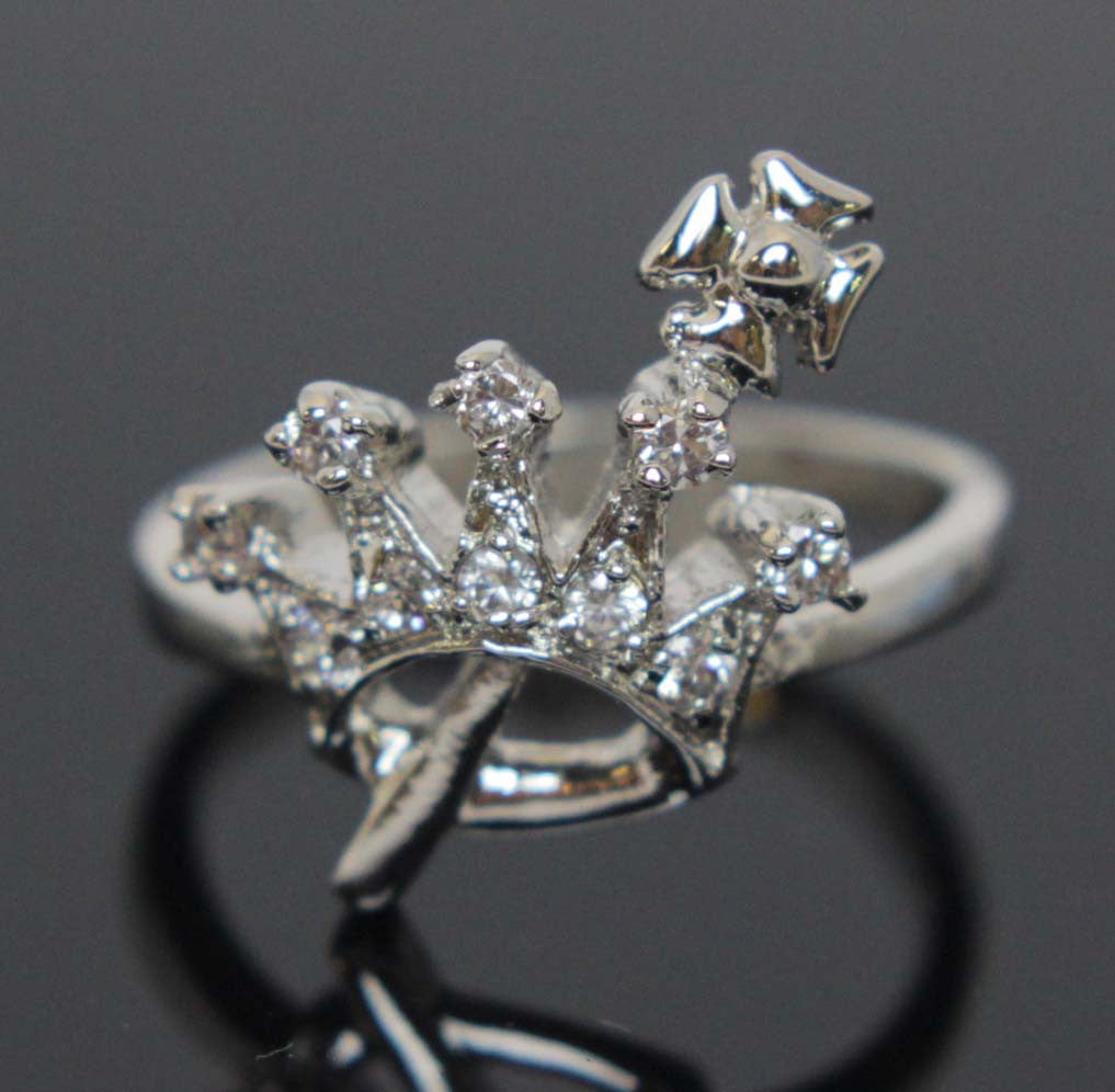 Crown & Scepter Ring Size 8