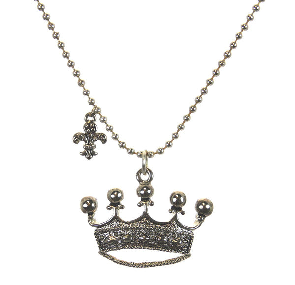 Crown Necklace with Charm