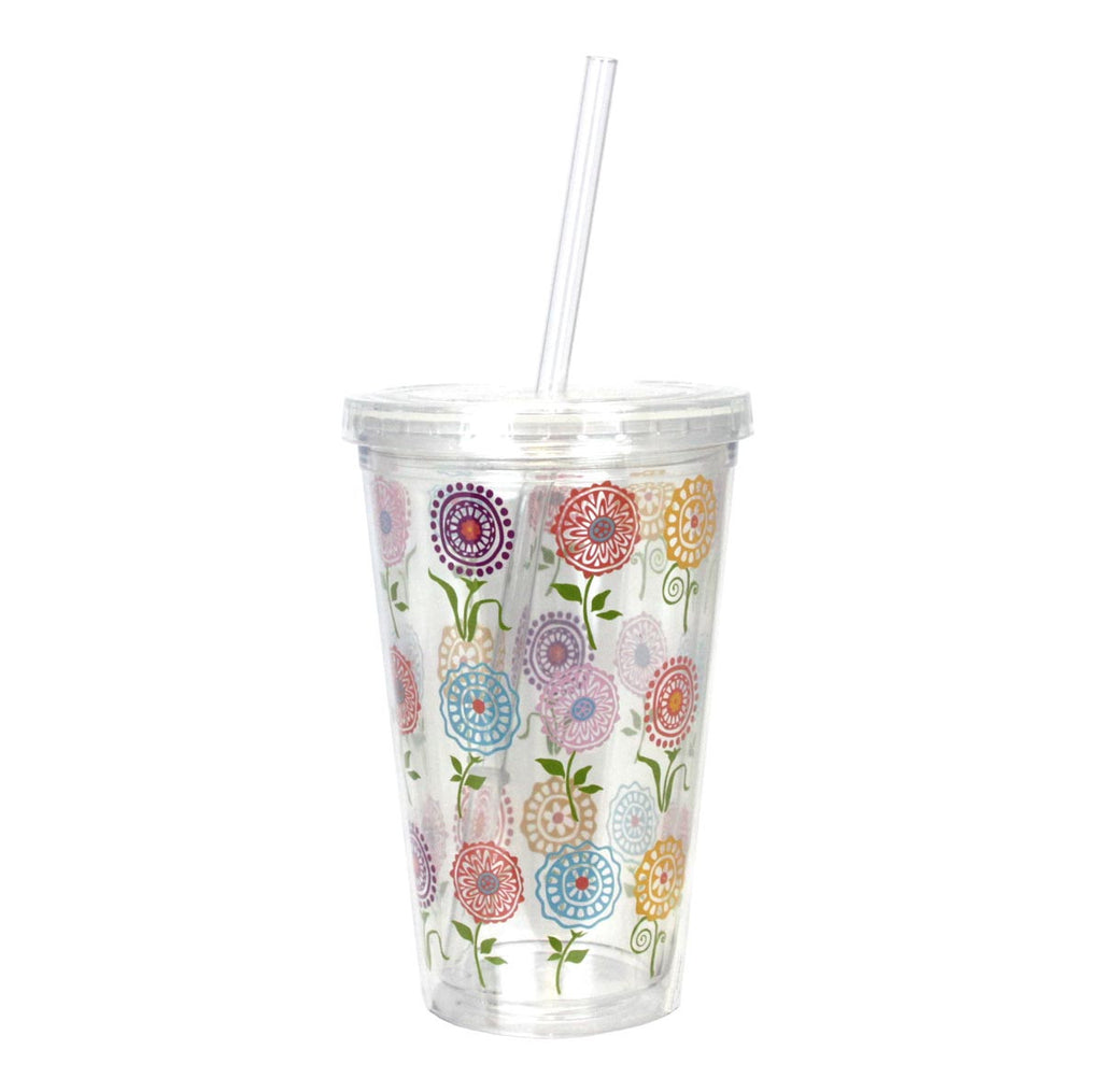 Double-Wall Insulated Tumbler Flowers