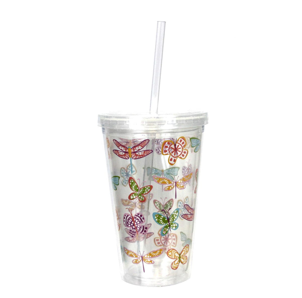 Double-Wall Insulated Tumbler Butterflies