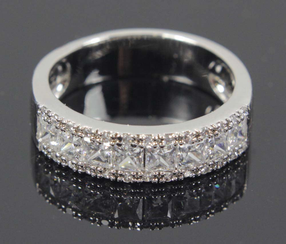 Sterling Silver Diamond CZ Size 8.5