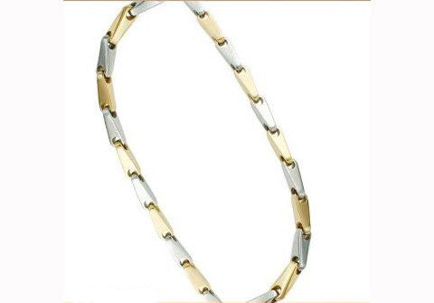 "Stainless Steel Necklace 24"" Gold PVD"