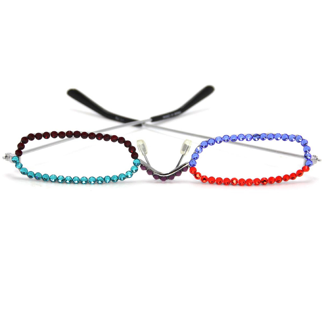 +1.75 Multi Color Crystals Frame