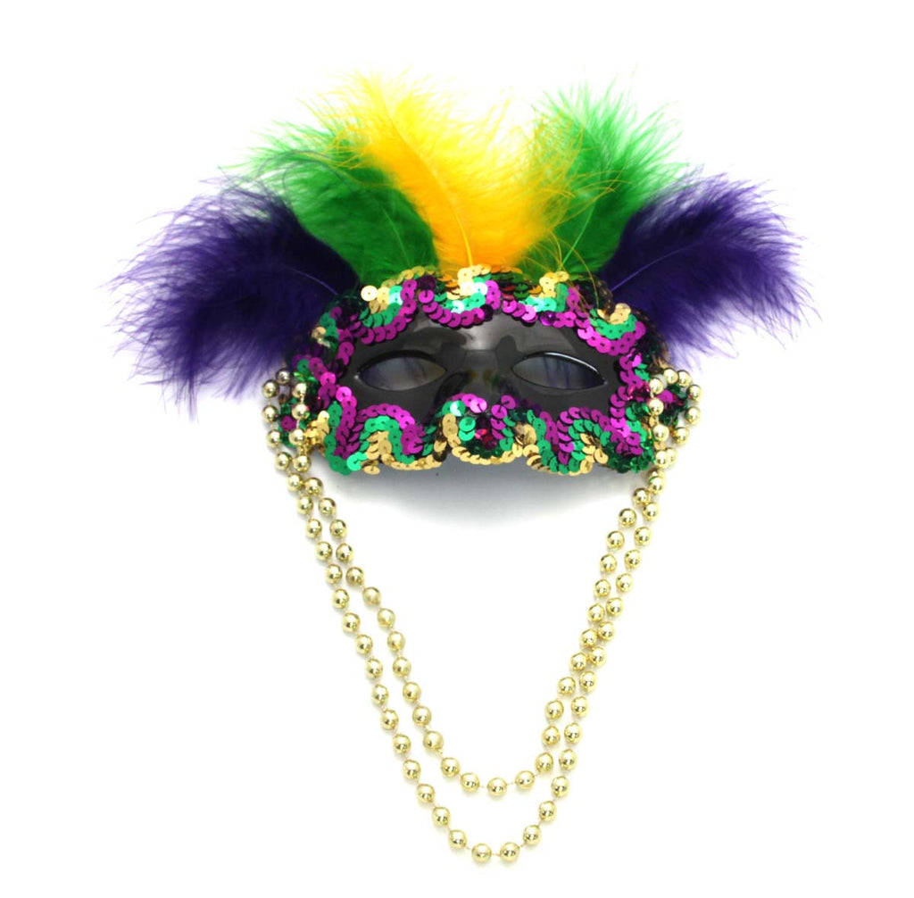 Half Mask Purple, Green, & Gold