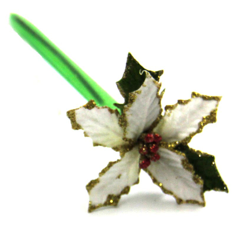 Poinsettia Ink Pen White
