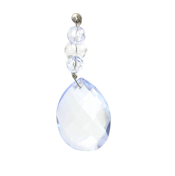 Light Charms - Baby Blue Faceted Almond