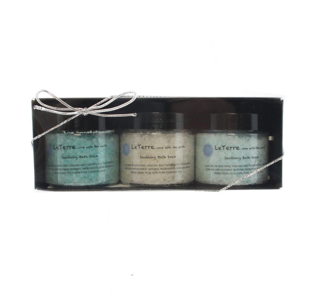 LeTerre Bath Salts Men's Trio Set