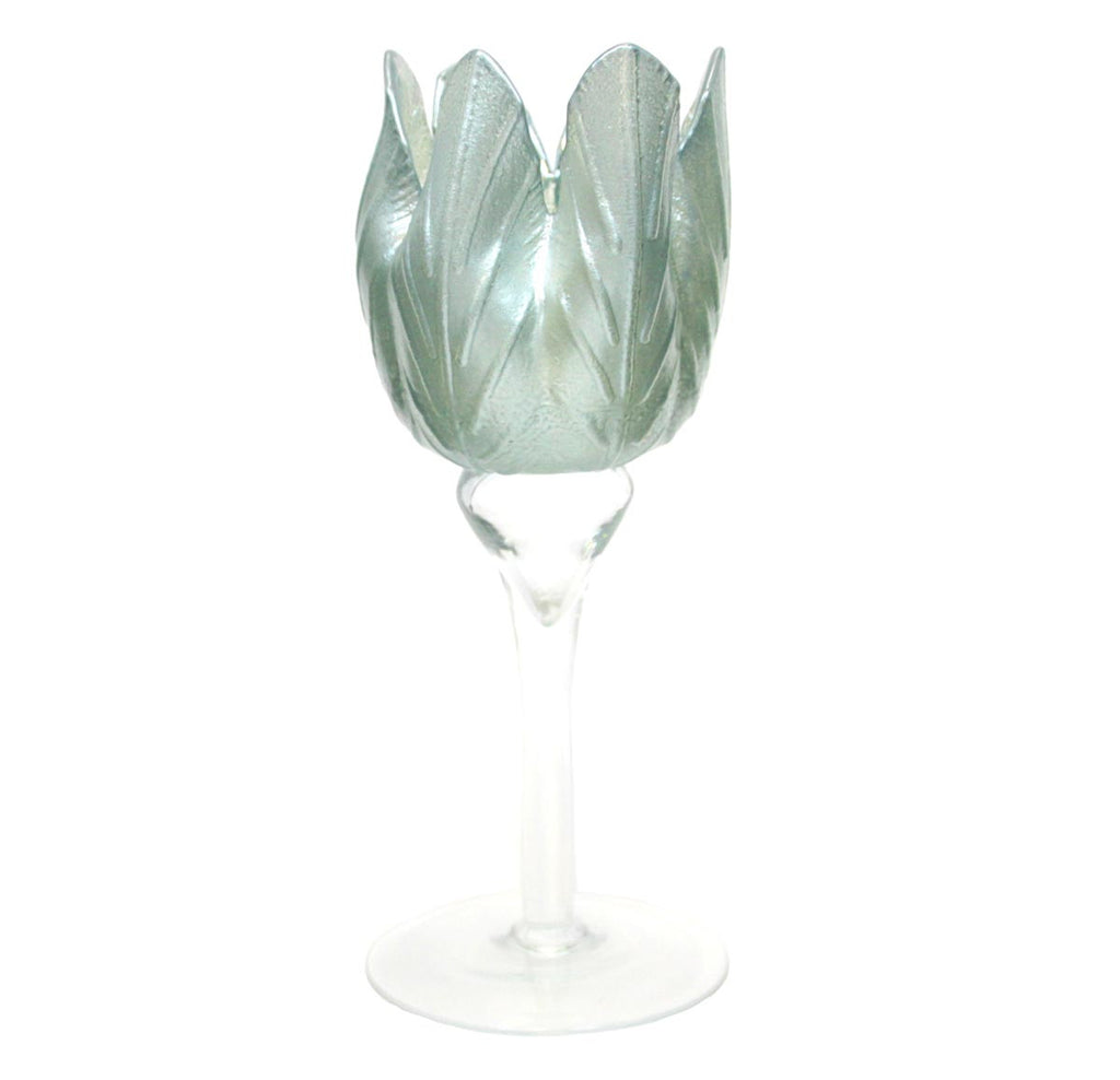Tulip Candle Holder - Blue