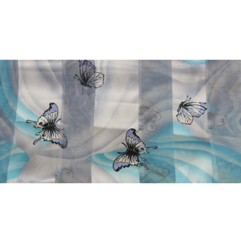 "Long Scarf 60"" x 13"" Butterfly Design"