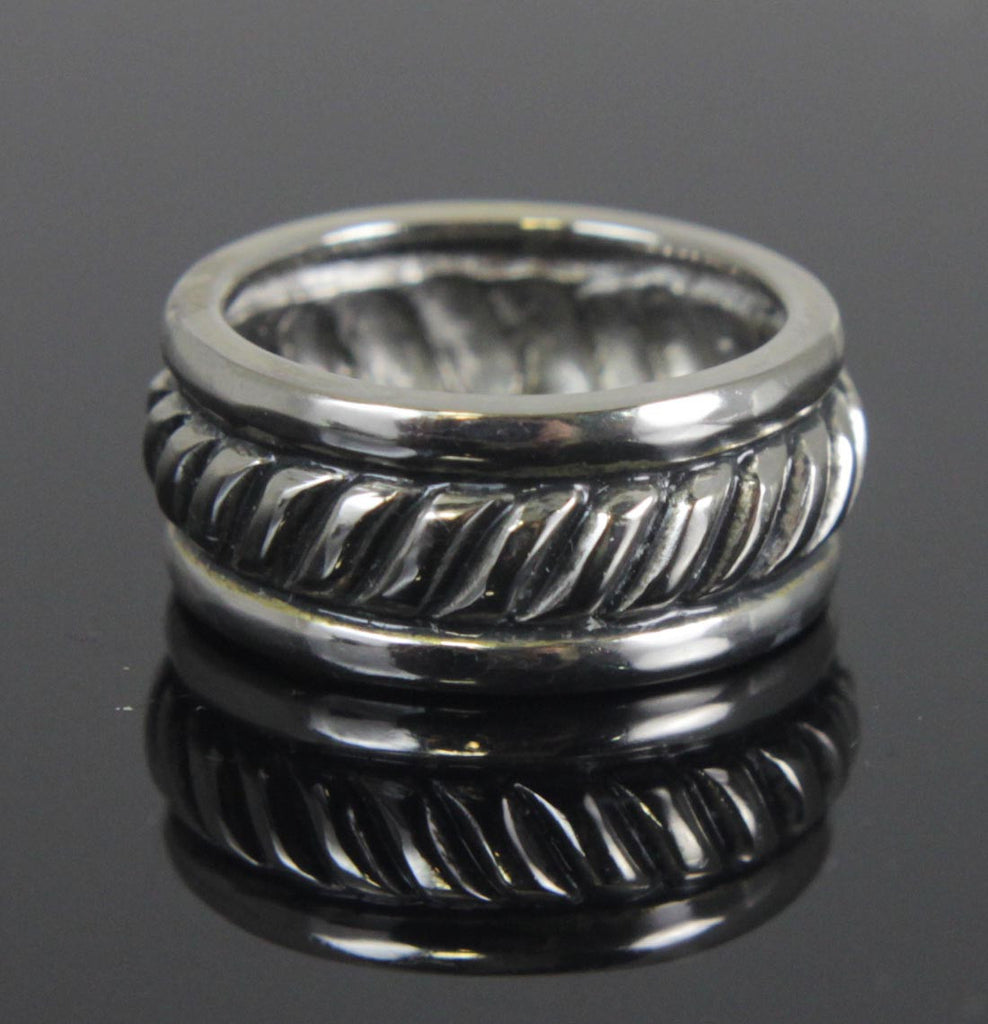 Sterling Silver Rope Ring Size 8