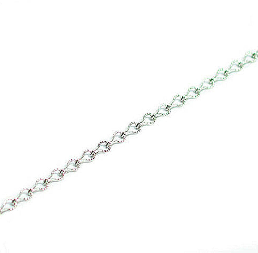 Silver Ladder Chain 36""