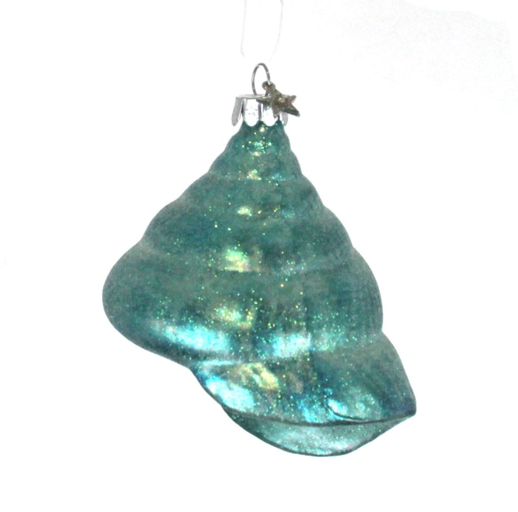 Spiral Shell Ornament Blue