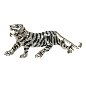 Tiger Pin/Pendant Black Stripes