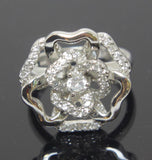 Sterling Silver Ring Flower Size 6.5