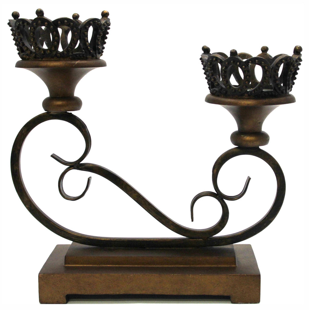 Candleholder Crowns and Scrolls