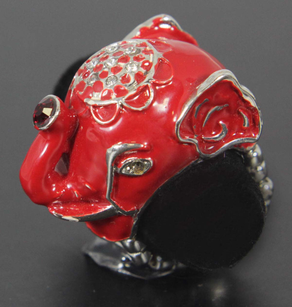 Elephant Stretch Ring Red