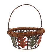 Basket with Fall Leaves