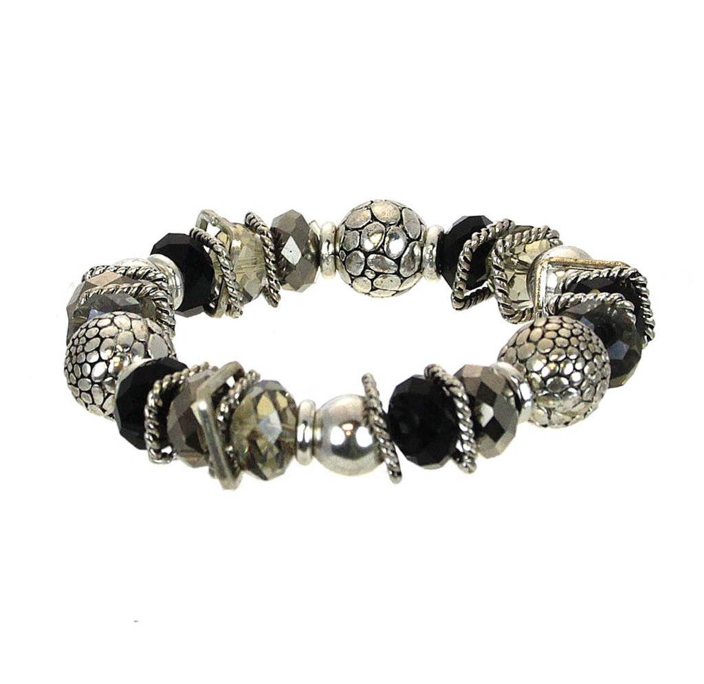Bracelet Beads with Metal Smoke
