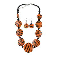 Tiger Stripe Necklace Set