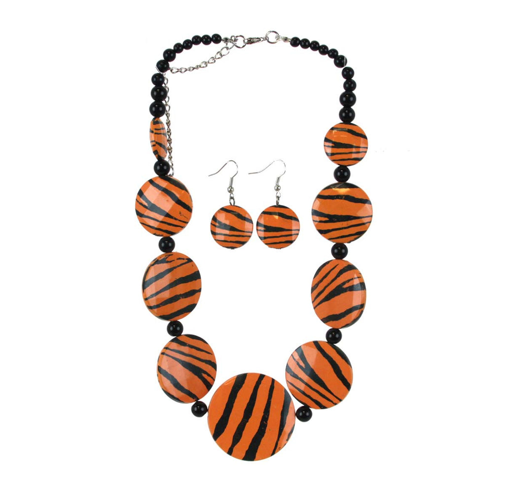 Necklace Set Auburn Tiger Stripe