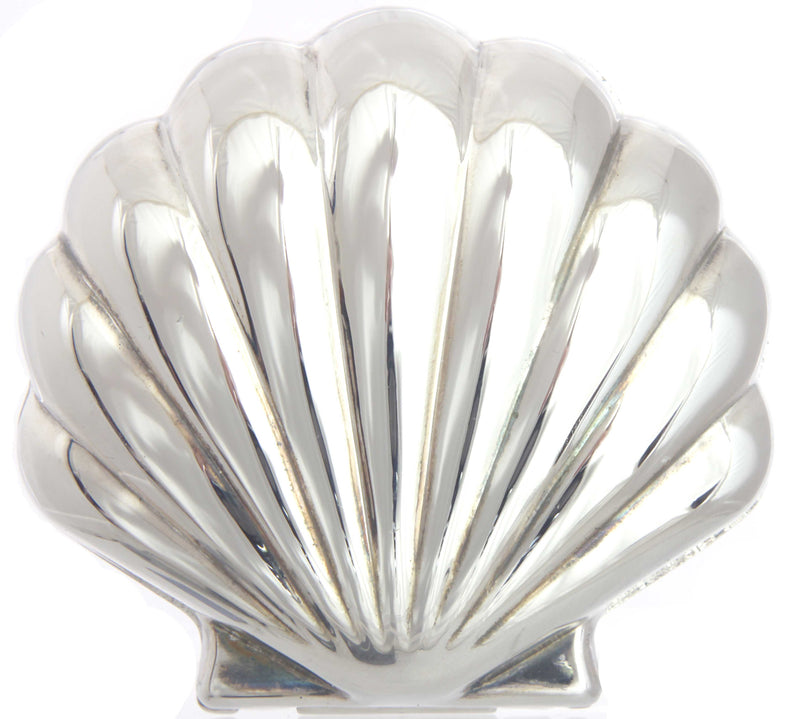 Shell Silverplated Jewelry Box