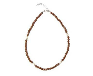 Beaded Necklace Brown