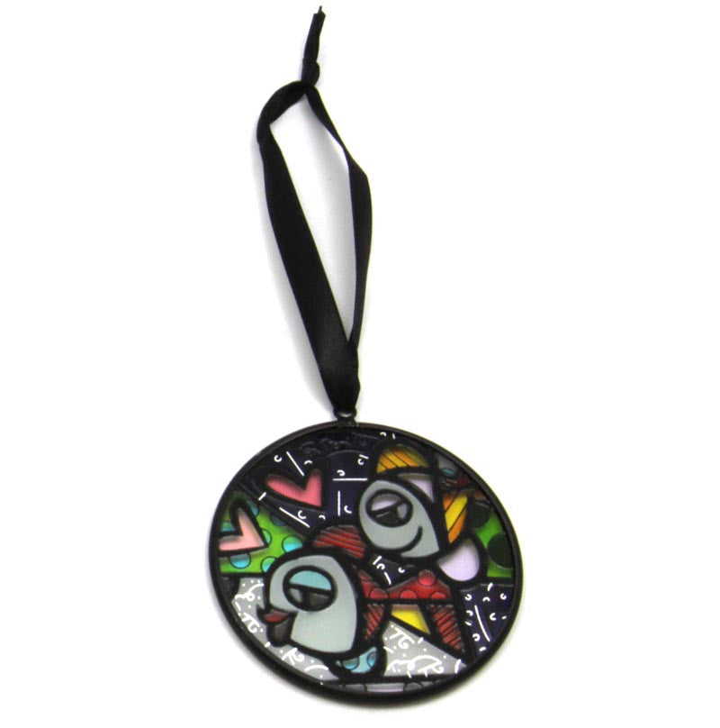 Romero Britto Glass Ornament Fish Stain Glass Look