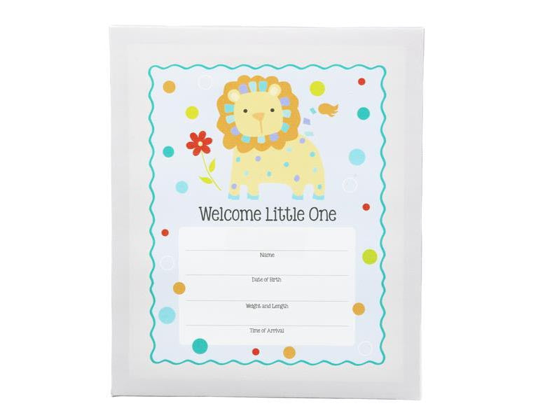 Birth Announcement Canvas Wall Art Boy