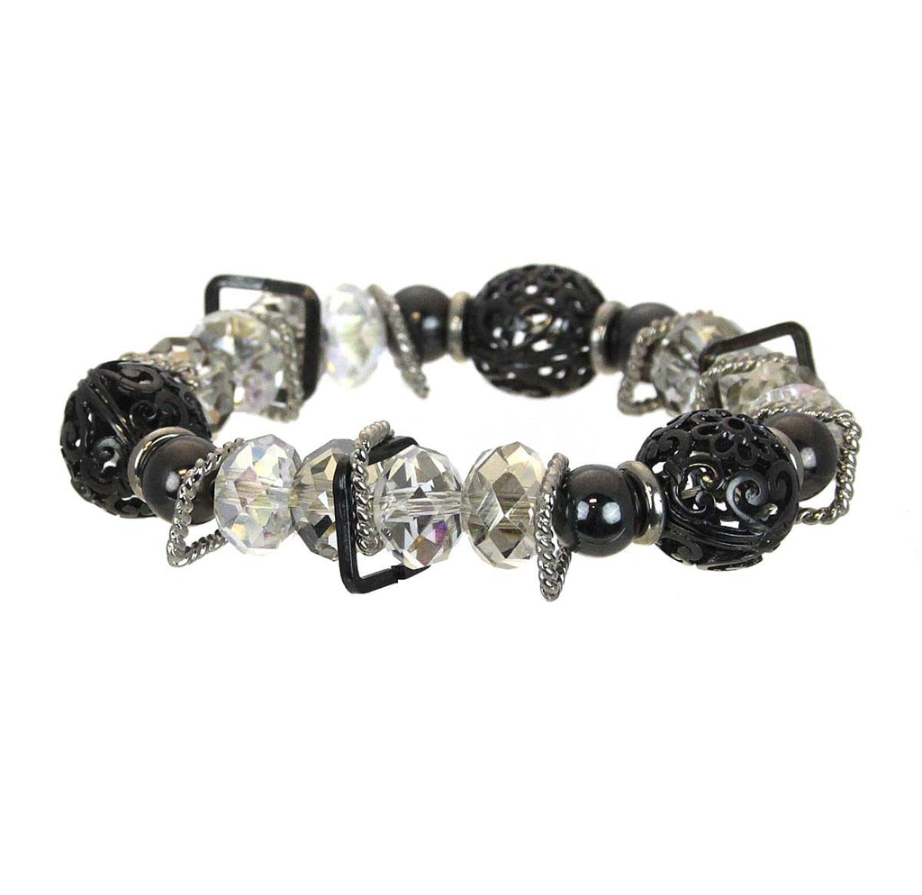 Bracelet Beads with Metal Clear