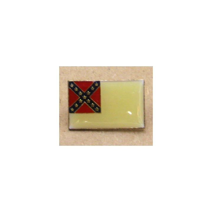 "Hat Tac Second National Confederate Flag ""Stainless Banner"""