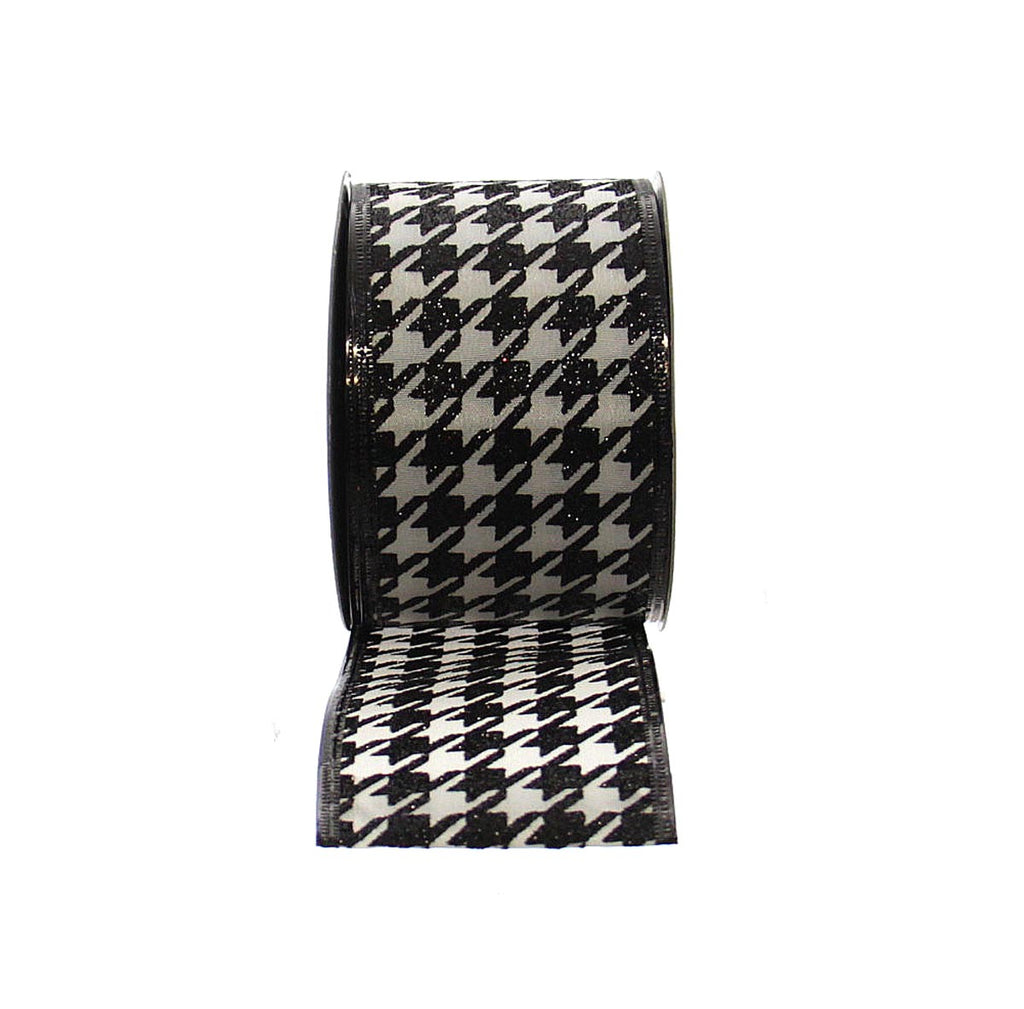 Houndstooth Wired Ribbon