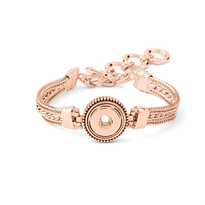 Petite Ginger Snaps Bracelet Rose Gold Multi 1 Snap