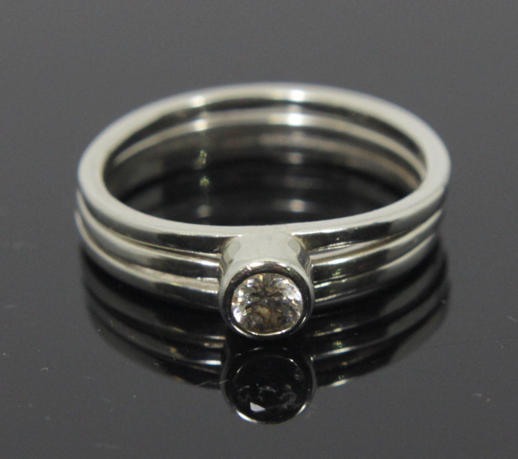 Sterling Silver Ring Within a Ring Size 8