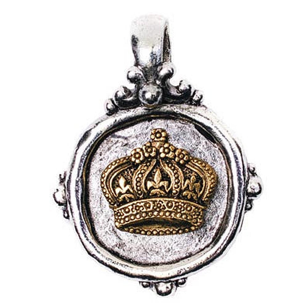 Crown Charm Aimez Two Tone