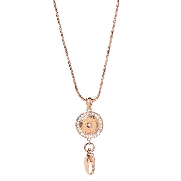 Ginger Snaps Lanyard Necklace Bling Rose Gold