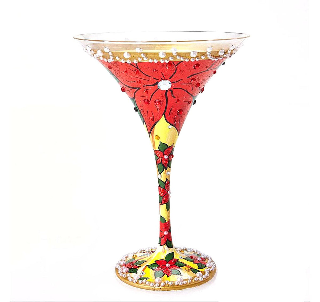 Martini Glass Poinsettia