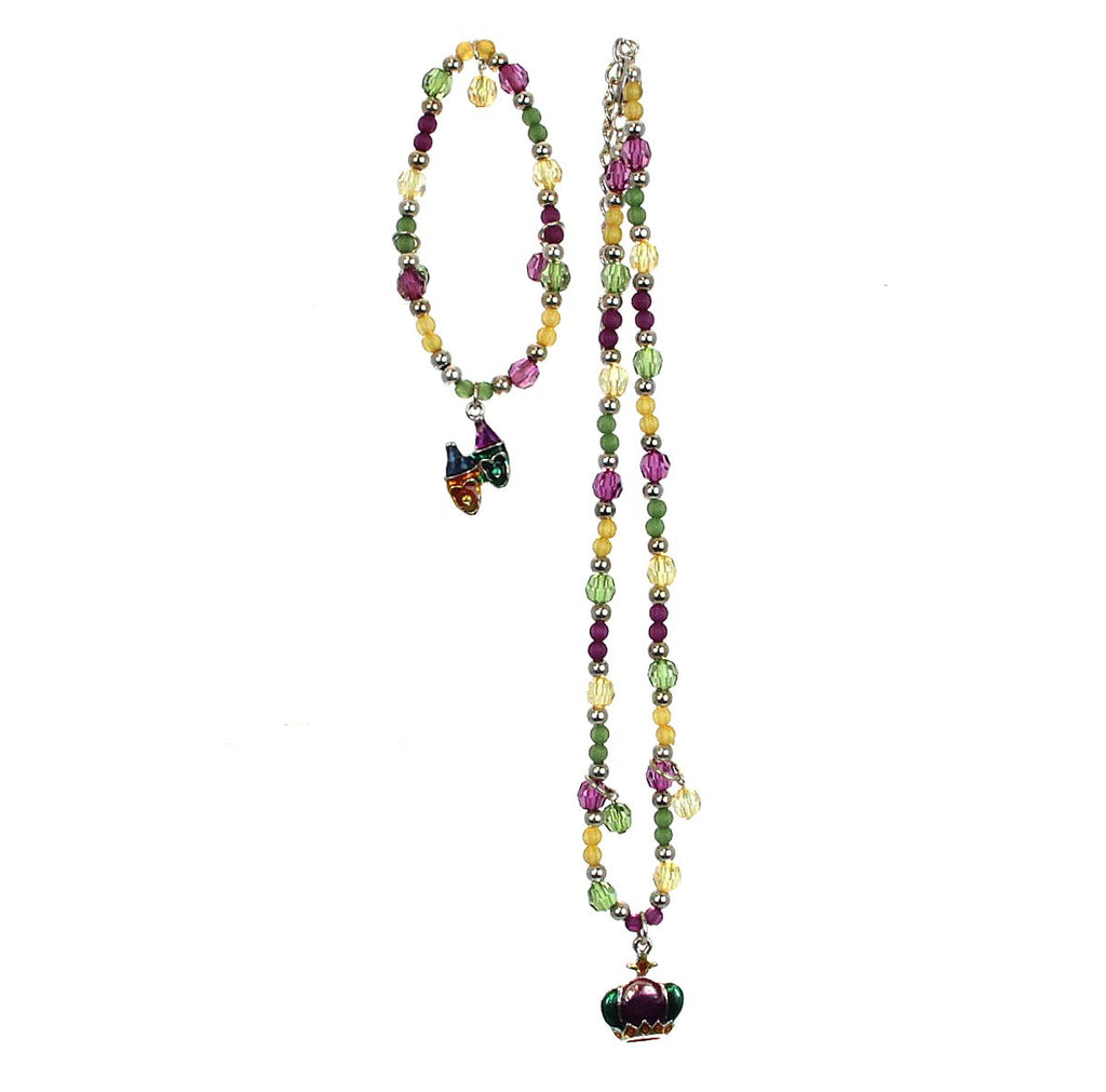 Mardi Gras Necklace & Bracelet