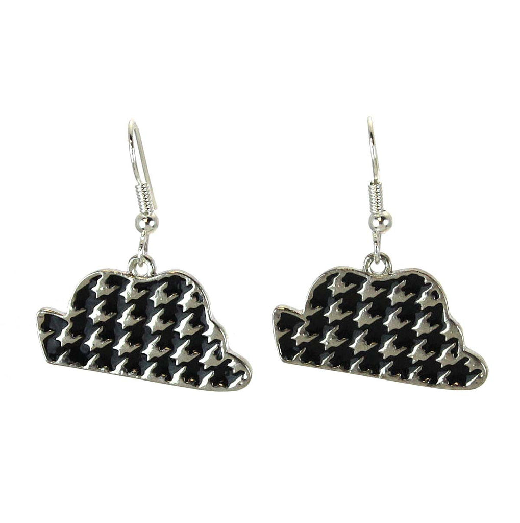 Houndstooth Hat Earrings