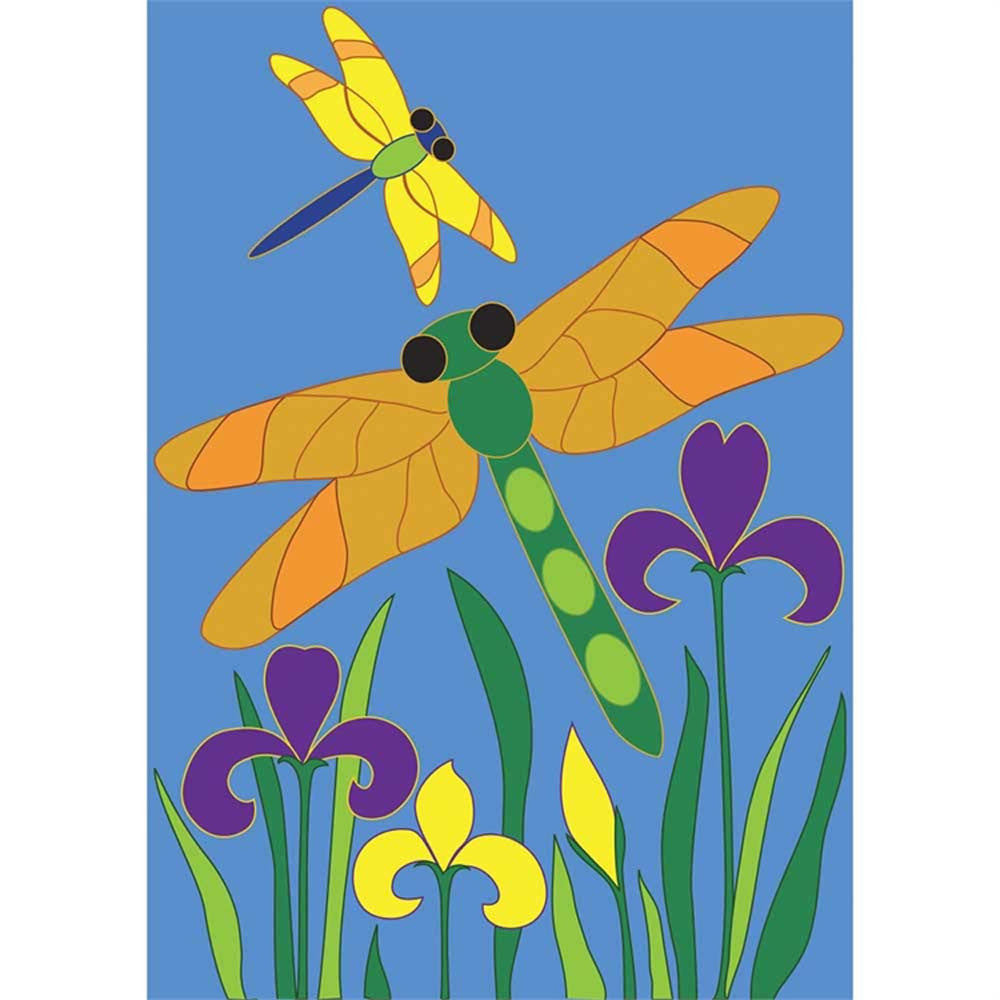 "Dragonflies Applique Flag 29"" X 42"""