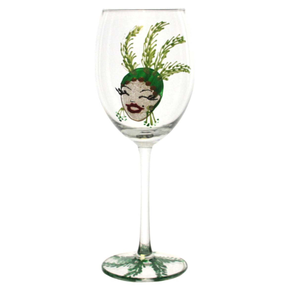 Showgirl Wine Glass