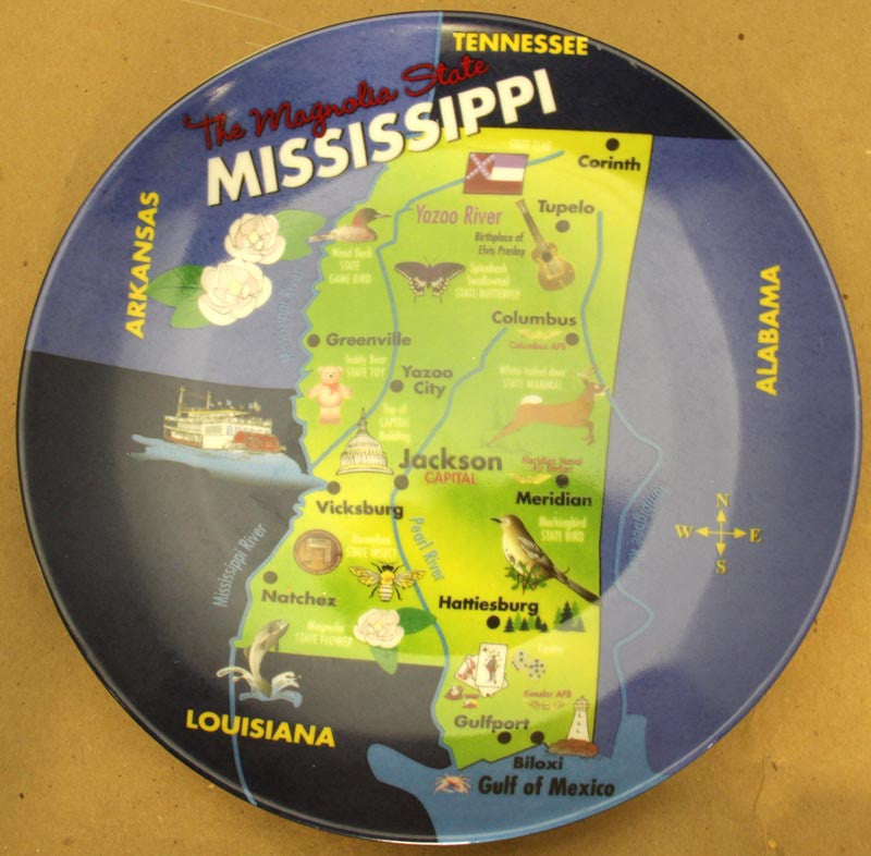 State of Mississippi Plate