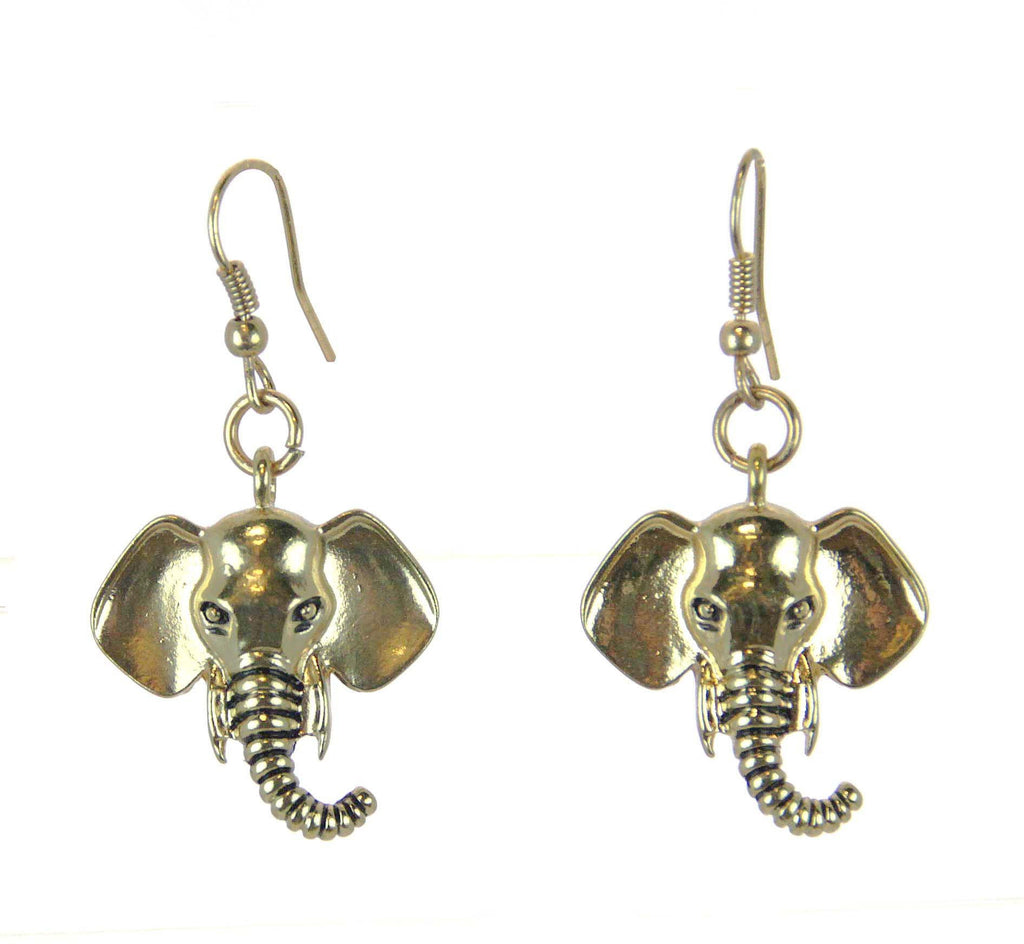 Elephant Earrings Gold