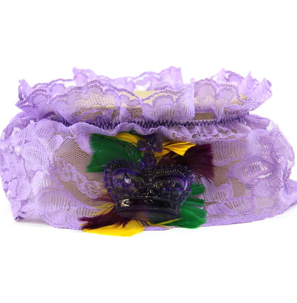 Garter Lavender Lace PGG Feathers