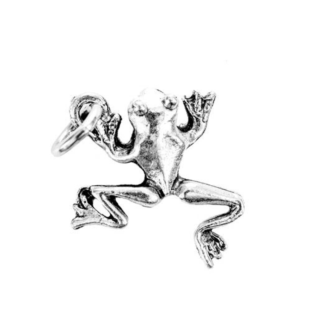 Frog Silver Character Charm